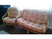 Cane 3 pieces conservatory furniture