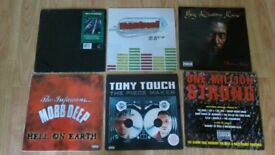 6 x rap hip hop vinyl LP's - lords of the underground / mobb deep / mantronix