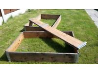 Raised Beds x 3 - Timber Planters