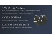 Video Editing & Motion Graphics | Animated Idents for your business | Editing for live events