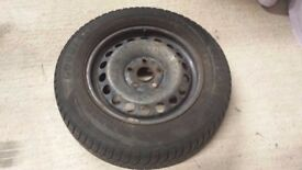 195/65/17 Winter tyres on Steel Rims (for VW Golf Mk5, Audi A3 or similar)