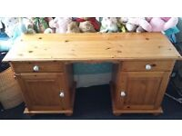 FOR SALE: DRESSING TABLE - MEDIUM PINE COLOURED