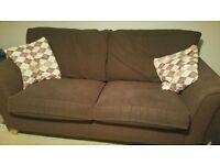 Free to good home 2 x aubergine sofa's