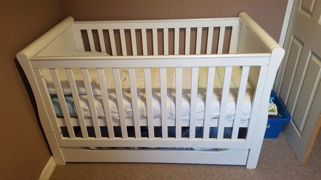 Mother care chiltern cotbed white with under bed storage