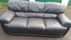 3 Seater Leather Sofa (**Free Delivery**)