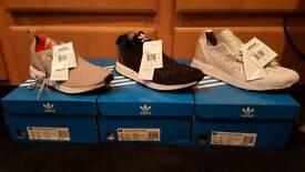 Men's brand new Adidas zx flux adv asym pk trainers size 10