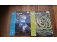 GCSE AQA biology&physics text books