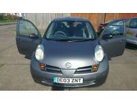 Nissan micra 1.2 03 plate