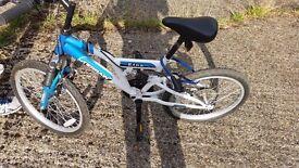 Kids mountain bike Duel Suspension- little used.