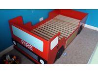 Fire engine single bed frame
