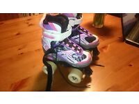 Girls Roller Boots Size 11-13UK