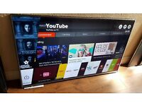 """LG 60"""" SUPER Smart ULTRA SLIM 4K UHD HDR led TV-60UH615V,built in Wifi,Freeview HD,Good Condition"""