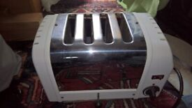 toaster Dualit 4 slice white ends