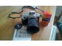 Nikon F60 SLR (not digital) + foto films + Nikon L35 AF