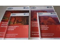 The official CIPS course book and companion A5 set of revision notes. Excellent condition.