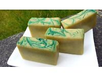 Natural handmade quality artisan soap with Essential oils in organza bag Aloe Cucumber