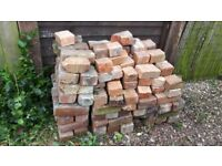 free old bricks - circa 40-50 plus good condition halves