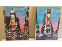 3 Canvas Prints - 2 New York Scenes