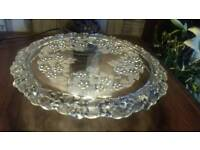 BEAUTIFUL WALTHER GLASS PEDASTOOL CAKE STAND