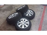 vauxhall corsa/combo/astra alloys with brand new tyres