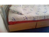 2x Wheeled Underbed Drawers Good Bedroom Storage Solution