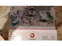 12-piece stainless steel cookware set St. Moritz