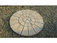 2 tone 6ft rotunda patio paving circle