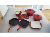 Red Kitchen Pots & Pans Cast Iron