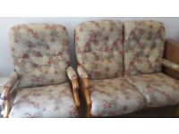 Perfect condition 2 seater and 2 chairs ideal for living room conservatory
