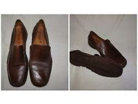 MENS SIZE 11 – ECCO BROWN LEATHER LOAFER *NEVER WORN*