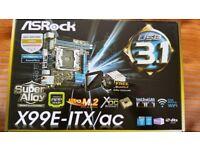 ASRock X99E-ITX/AC - Motherboard (ITX, LGA2011-v3 Socket X99, USB 3.1, Bluetooth, 2 x Gigabit)