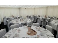 Weekday Weddings Nottingham - Decor Package Deal (chair covers, backdrop, thrones, centrepieces)