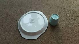 Poole pottery egg cup set