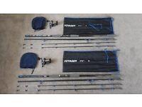 2 x PENN Voyager rod & 2 x PENN Magnum reel & Rodcase