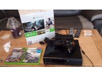Xbox 360 with control and 2 games