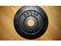2x 5kg olympic weights 10kg total