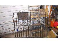 Decorative wrought iron gates x 2 sets