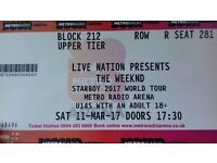 2 tickets to see the weeknd Newcastle radio arena