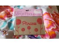 Princess mirror plaque