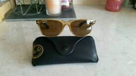 Polarised Honey Wayfarer Raybans