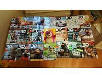 3D WORLD MAGAZINES X31 COPIES