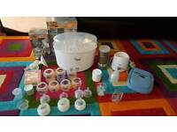Tommee tippee bundle: steriliser, breast pump, bottles and many more