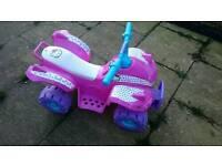 Pink girls quad bike