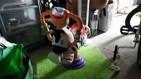 Fisher price zebra bouncer