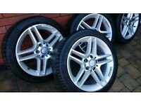 "Genuine Mercedes 17"" alloys with tyres AMG"