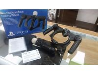 Sony PS3 Move Controller and Steering Wheel