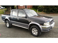 2004 FORD RANGER XLT THUNDER DIESEL 4X4 PICK UP DOUBLE CREW CAB 12 Months MOT