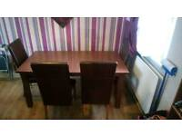 Large table and chairs for sale