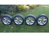5x112 Audi alloy wheels 18inch Genuine made by Ronal + runfflat tyres