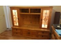 Large Cabinet With Lights And Glass Doors
